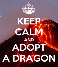 Poster: KEEP CALM AND ADOPT A DRAGON