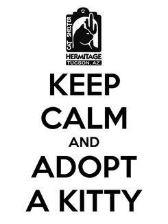 Poster: KEEP CALM AND ADOPT A KITTY