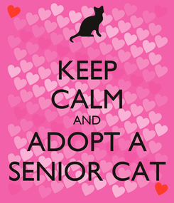 Poster: KEEP CALM AND ADOPT A SENIOR CAT