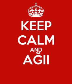 Poster: KEEP CALM AND AĞII