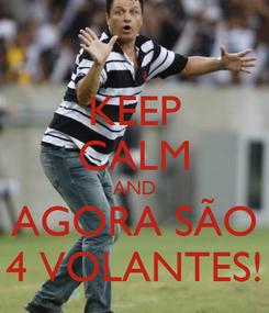 Poster: KEEP CALM AND AGORA SÃO 4 VOLANTES!