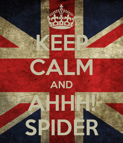 Poster: KEEP CALM AND AHHH! SPIDER