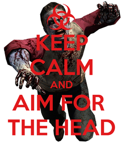 Poster: KEEP CALM AND AIM FOR  THE HEAD