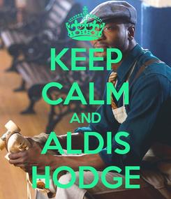Poster: KEEP CALM AND ALDIS HODGE