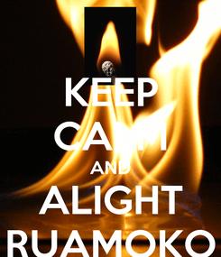 Poster: KEEP CALM AND ALIGHT RUAMOKO