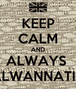Poster: KEEP CALM AND ALWAYS  ALWANNATIC