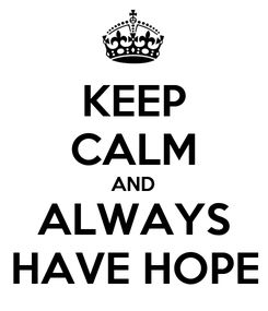 Poster: KEEP CALM AND ALWAYS HAVE HOPE