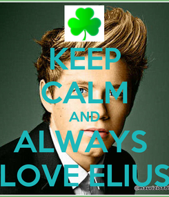 Poster: KEEP CALM AND ALWAYS  LOVE ELIUS
