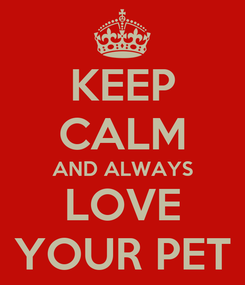 Poster: KEEP CALM AND ALWAYS LOVE YOUR PET