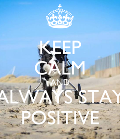 Poster: KEEP CALM AND ALWAYS STAY POSITIVE
