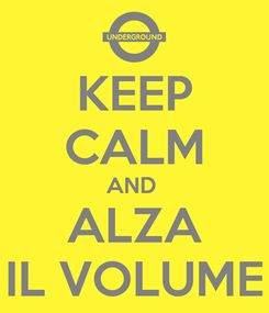 Poster: KEEP CALM AND  ALZA IL VOLUME