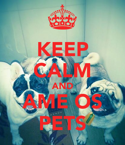 Poster: KEEP CALM AND AME OS PETS