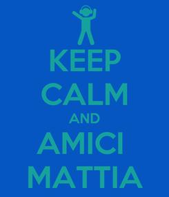Poster: KEEP CALM AND AMICI  MATTIA