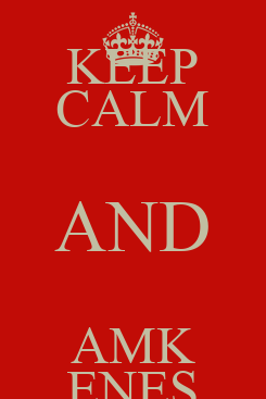 Poster: KEEP CALM AND AMK ENES