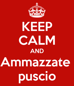 Poster: KEEP CALM AND Ammazzate  puscio