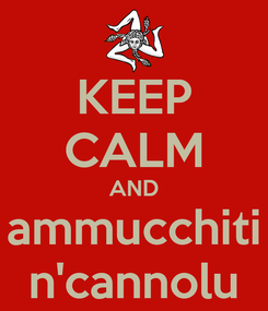 Poster: KEEP CALM AND ammucchiti n'cannolu