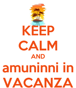 Poster: KEEP CALM AND amuninni in VACANZA