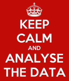 Poster: KEEP CALM AND ANALYSE THE DATA