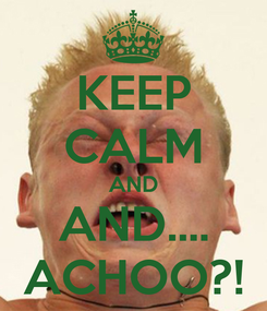 Poster: KEEP CALM AND AND.... ACHOO?!