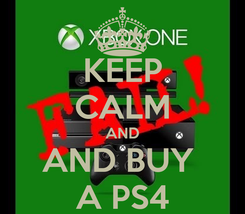 Poster: KEEP CALM AND AND BUY  A PS4
