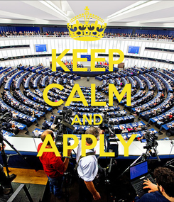 Poster: KEEP CALM AND APPLY