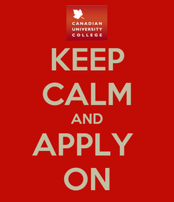 Poster: KEEP CALM AND APPLY  ON