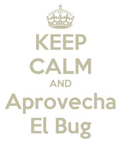 Poster: KEEP CALM AND Aprovecha El Bug