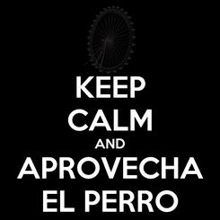 Poster: KEEP CALM AND APROVECHA EL PERRO