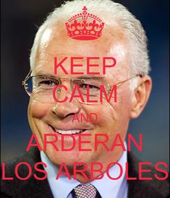 Poster: KEEP CALM AND ARDERAN LOS ARBOLES