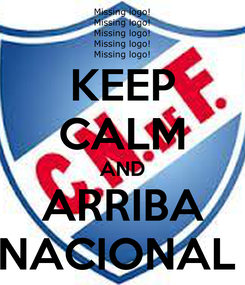 Poster: KEEP CALM AND ARRIBA NACIONAL