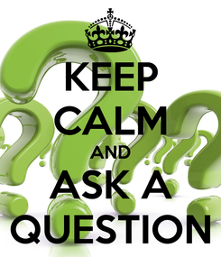 Poster: KEEP CALM AND ASK A QUESTION