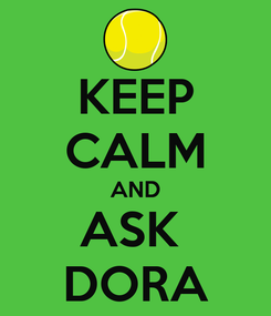Poster: KEEP CALM AND ASK  DORA