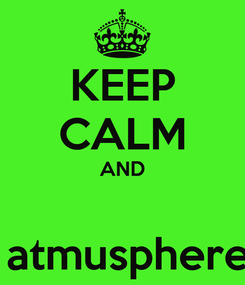 Poster: KEEP CALM AND   atmusphere