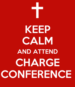 Poster: KEEP CALM AND ATTEND CHARGE CONFERENCE