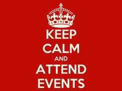 Poster: KEEP CALM AND ATTEND EVENTS