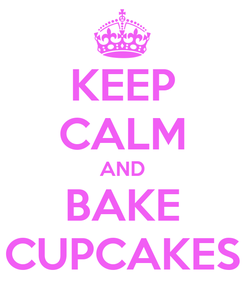 Poster: KEEP CALM AND BAKE CUPCAKES