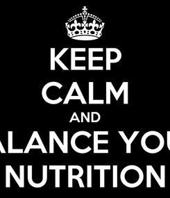 Poster: KEEP CALM AND BALANCE YOUR NUTRITION