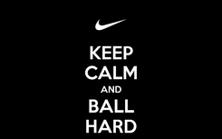 Poster: KEEP CALM AND BALL HARD