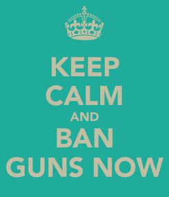 Poster: KEEP CALM AND BAN GUNS NOW