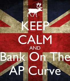 Poster: KEEP CALM AND Bank On The AP Curve
