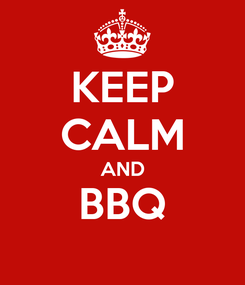 Poster: KEEP CALM AND BBQ
