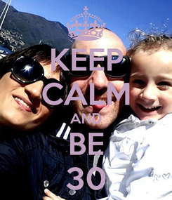 Poster: KEEP CALM AND BE 30