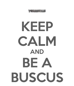 Poster: KEEP CALM AND BE A BUSCUS