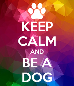 Poster: KEEP CALM AND BE A DOG