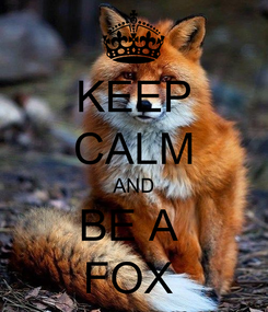 Poster: KEEP CALM AND BE A  FOX