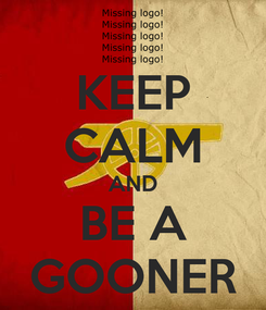 Poster: KEEP CALM AND BE A GOONER
