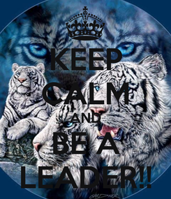 Poster: KEEP CALM AND BE A LEADER!!