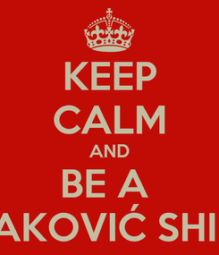 Poster: KEEP CALM AND BE A  LUDAKOVIĆ SHIPPER