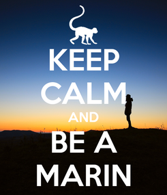 Poster: KEEP CALM AND BE A MARIN