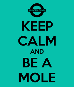 Poster: KEEP CALM AND BE A MOLE